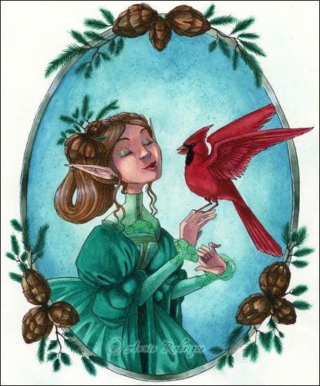 Художница Annie Rodrigue