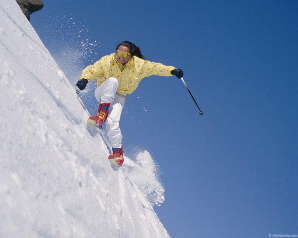 Сноубордисты и лыжники
