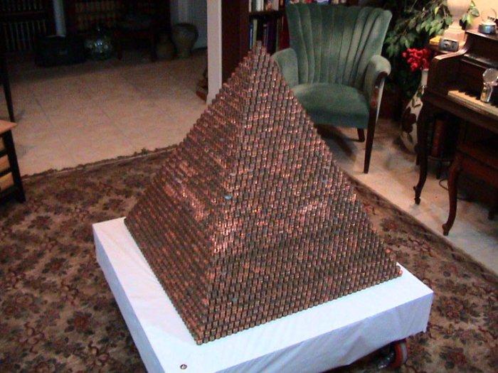 Пирамида из денег своими руками 7