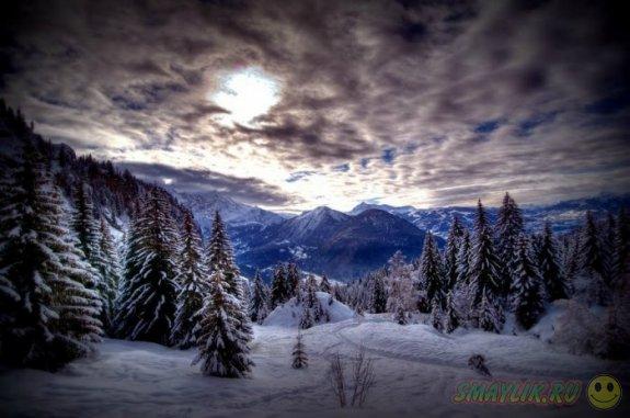 Зима в формате HDR