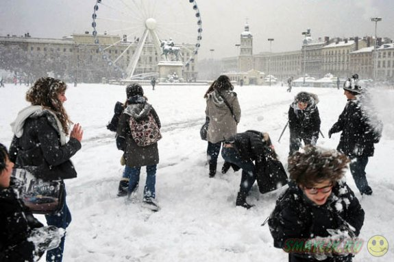 В бельгийской Фландрии ввели запрет на бросание снежков