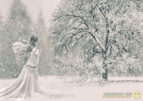 В Кемеровской области старушки  решили сделать  «снежных бабочек»  в снегу
