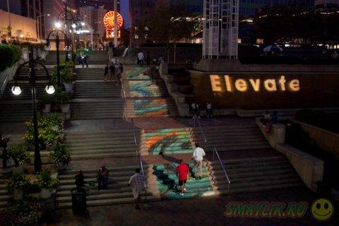 Стрит-арт на лестницах