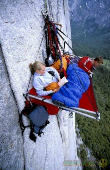 Отдых на отвесных скалах Национального парка Йосемити