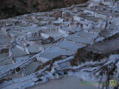 Соляные водоемы Священной Долины инков в Перу