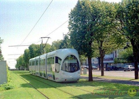 «Зеленые» трамвайные пути в  городах Европы