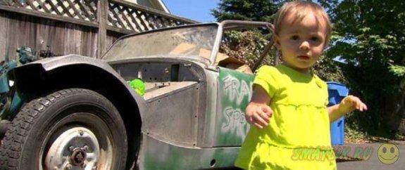 Годовалая девочка из Портленда случайно приобрела на интернет-аукционе спорткар