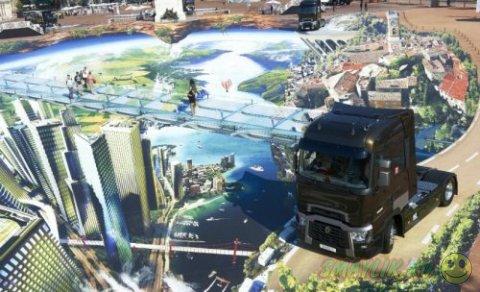 Гигантский 3D-рисунок на площади Белькур в  Лионе