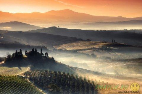 Красивые пейзажи  холмов Тосканы от Аднане Бубало