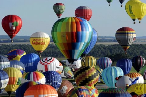 Фестиваль воздушных шаров во Франции