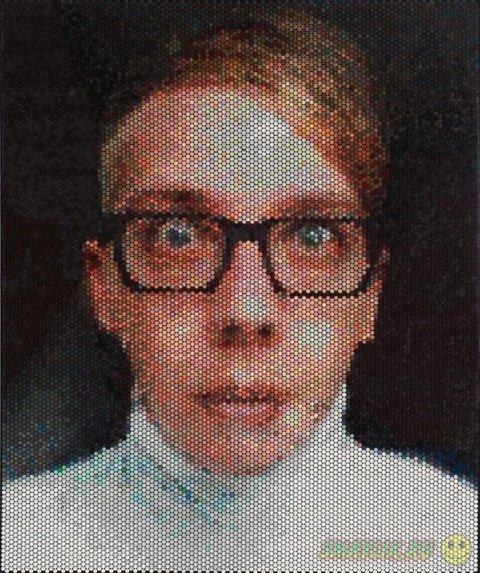 Портреты  на «холсте» с пузырьками