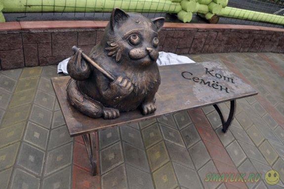 В Мурманске установили памятник коту Семену