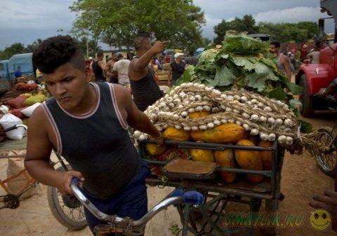 Уличный рынок на окраине Гаванны