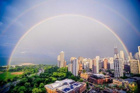 Двойная радуга в разных уголках Земли