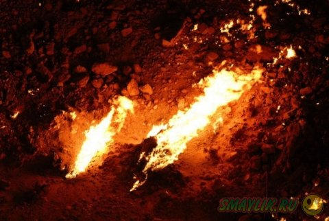 Уникальный газовый кратер Дарваза