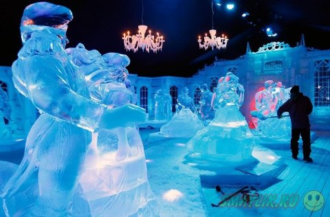 Фестиваль снежной и ледовой скульптуры в Брюгге