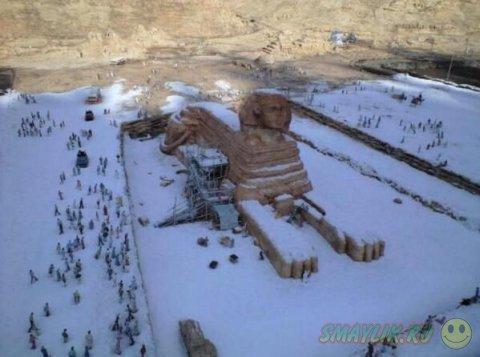 В Египте впервые за 122 года выпал снег