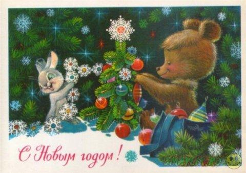 Чудные новогодние открытки Владимира Зарубина