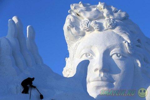 В преддверии начала фестиваля снежных скульптур Art Expo