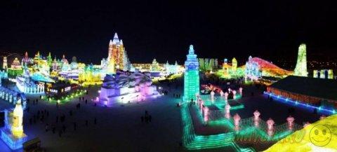 Официальное открытие фестиваля льда и снега в Харбине