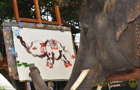 Новоявленный импрессионист - слон Нопаккао