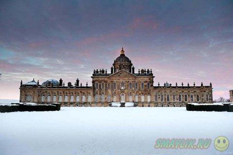 Старинные замки зимой