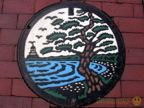 Оригинальные канализационные люки в Японии