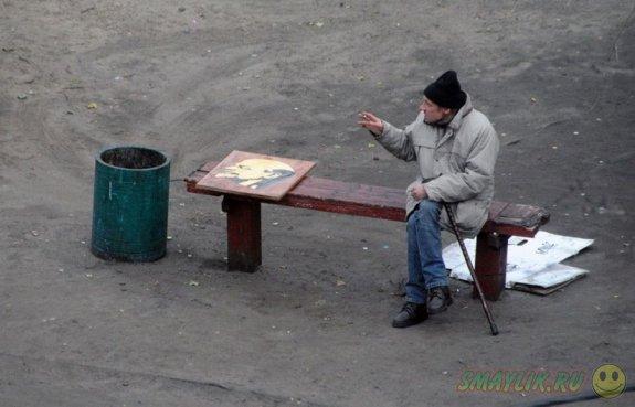 Повседневная жизнь дворовой скамейки