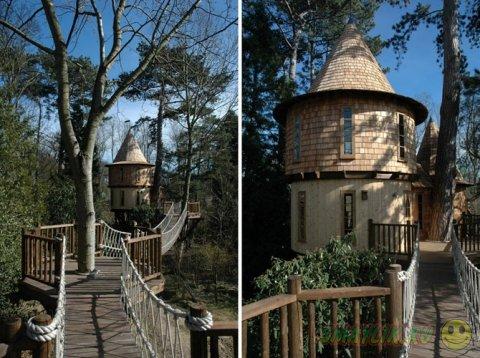 """Необычный """"дом на дереве"""" для среднестатистической семьи"""