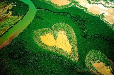 Подборка очень красивых уголков природы в форме сердца