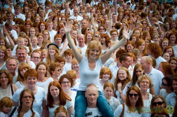 """Ежегодный фестиваль """"Рыжий день"""" в Голландии"""