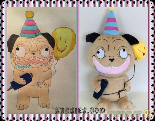 Плюшевые игрушки, созданные по детским рисункам