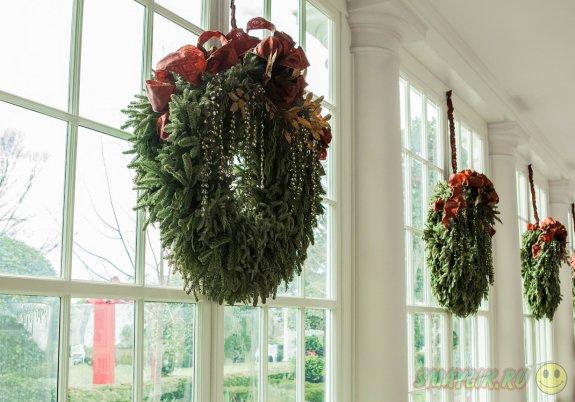 Белый дом в период рождественских праздников