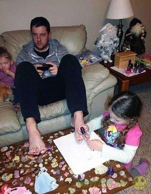 Веселые снимки пап и их детей