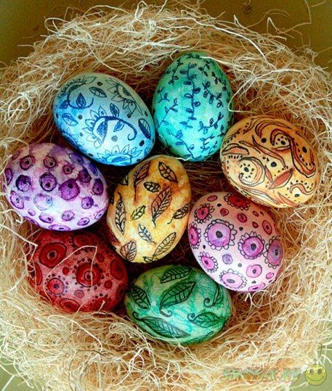 Интересные идеи для украшения пасхальных яиц
