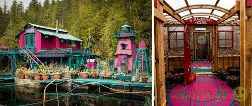 """""""Бухта свободы"""" -  дом-остров постороенный у побережья острова Ванкувер"""