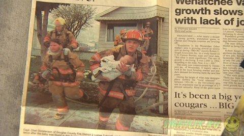 Счастливая история пожарного и маленькой девочки