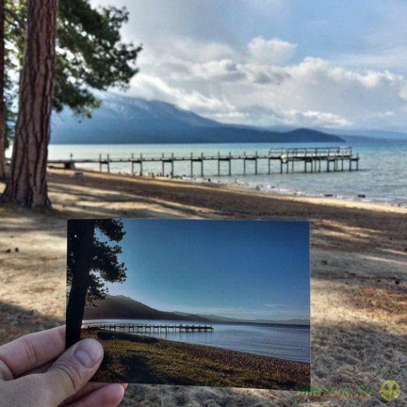 Путешествие по туристическим фотографиям  бабушки и дедушки