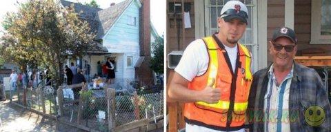 Джош Сайганик смог помочь пожилому человеку с ремонтом  дома
