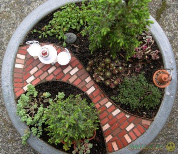 Сказочный мир миниатюрных садов в обычных цветочных горшках